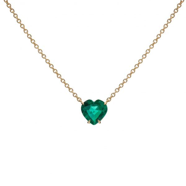 Emerald Heart Shape Necklace
